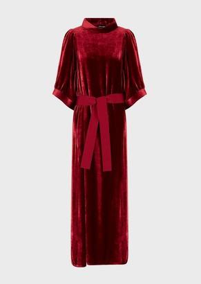 Giorgio Armani Long, Velvet Dress