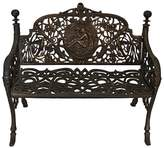 Channel Enterprises Outdoor Benches Cameo Iron Outdoor Bench, Large