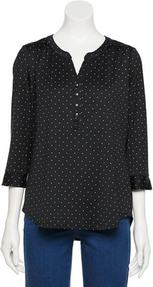 Croft & Barrow Women's Printed Henley Top
