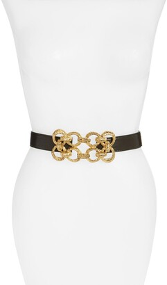 Raina Leather Stretch Belt