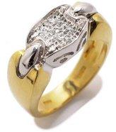 Tatitoto Gioie Women's Ring in 18k Gold with Diamond H/SI (total diamonds 0.05 ct), Size 5, 7.9 Grams