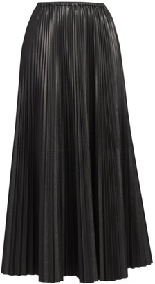 Valentino Pleated Silk Maxi Skirt