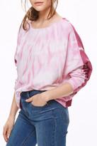 Free People Dolman Sleeve Mixed Print Shirt