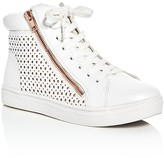 Steve Madden Girls' Perforated Hightop Sneakers
