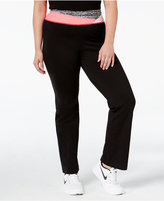 Material Girl Active Plus Size Colorblocked Yoga Pants, Only at Macy's
