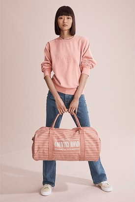 Country Road Fine Stripe Logo Tote