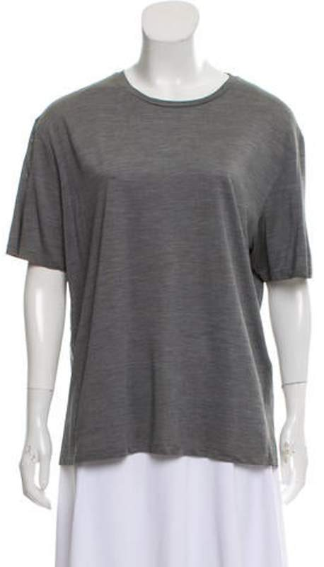 08e3342eebfba Silk Scoop Neck T-Shirt Grey Silk Scoop Neck T-Shirt