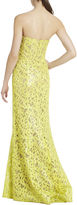 BCBGMAXAZRIA Natasha Applique Chiffon Sequined Cutout Dress
