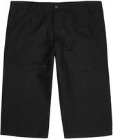 Our Legacy Buco Black Linen Blend Shorts