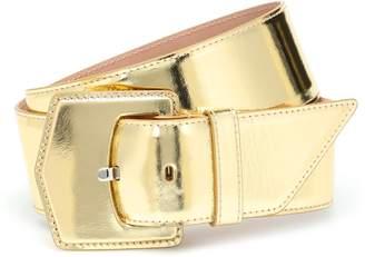 Alaã ̄A Metallic leather belt