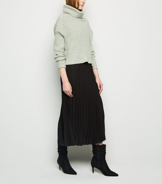 New Look Chiffon Pleated Midi Skirt