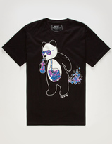 Riot Society Panda Space Bubbles Mens T-Shirt