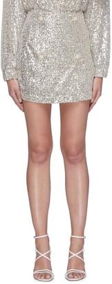 Rotate by Birger Christensen London' High Waist Sequin Mini Dress