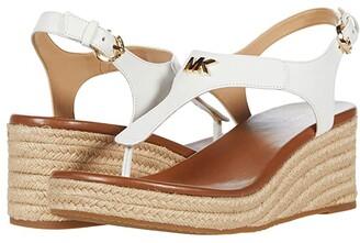MICHAEL Michael Kors Laney Thong (Brown) Women's Shoes