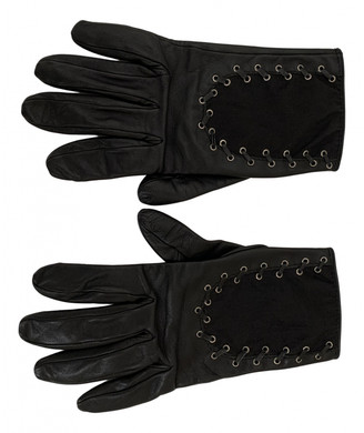Christian Dior Black Leather Gloves