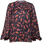 Schumacher Dorothee Graphic Ray Blouse in Brown on Black TS