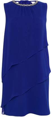 Wallis Blue Embellished Overlay Dress