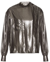 Etoile Isabel Marant Melva long-sleeved lamé shirt