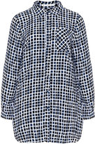 Studio Plus Size Grid printed shirt