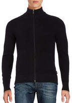 Michael Kors Knit Zip Up Sweater