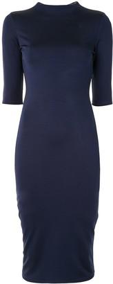 Alice + Olivia Short-Sleeve Fitted Midi Dress