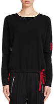 Oui Contrast Back Jumper, Black/Red