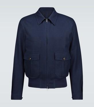 Lardini Zipped cotton-blend jacket