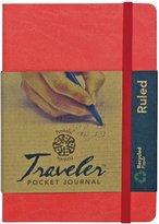 "Pentalic Art Pentalic Lined Traveler Pocket Journal, 4""-by-6"""