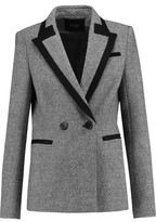 Maje Double-Breasted Wool-Blend Blazer