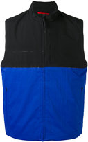 The North Face colour block zipped waistcoat