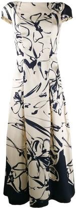 Talbot Runhof Rouche dress
