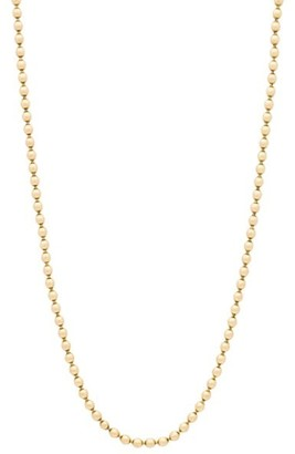 """Stephanie Windsor 18K Solid Yellow Gold Ball Chain Necklace/26"""""""
