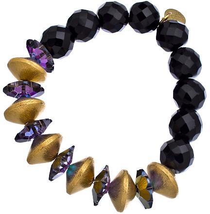 Wendy Mink Black Onyx Discl Bracelet