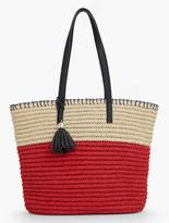 Talbots Crocheted Paper Straw Tote