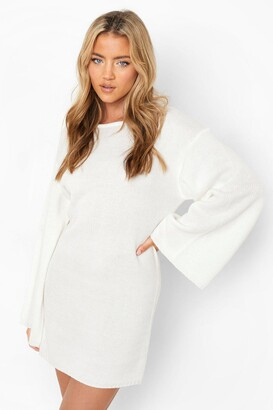 boohoo Oversized Wide Sleeve Sweater Dress