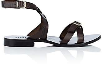 Barneys New York Women's Leather Ankle-Wrap Sandals - Brown