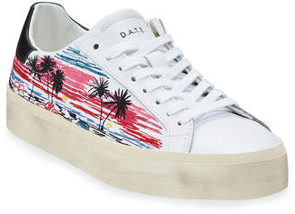 D.A.T.E Hill Double Printed Sneakers