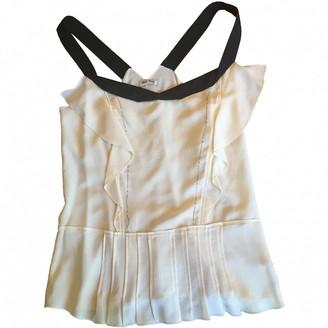 Miu Miu Beige Silk Top for Women