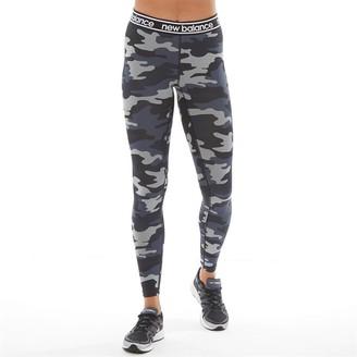 New Balance Womens Relentless Printed Running Tight Leggings Black Camo