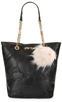 Betsey Johnson Sweet Hearts Tote and Faux Fur Charm Set
