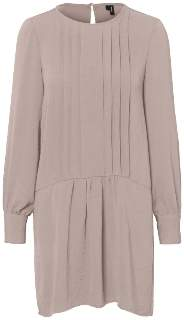Vero Moda FRONT PLEATED TUNIC - small | polyester | black - Pink/Black/Pink