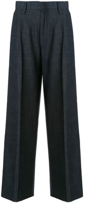 Coohem straight leg side stripe trousers