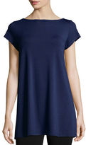 Eileen Fisher Cap-Sleeve Jersey Tunic, Petite