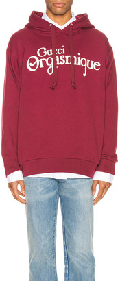 Gucci Pullover Hoodie in Bordeaux & Ivory | FWRD