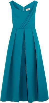Preen by Thornton Bregazzi Finella Wrap-effect Pleated Crepe Midi Dress
