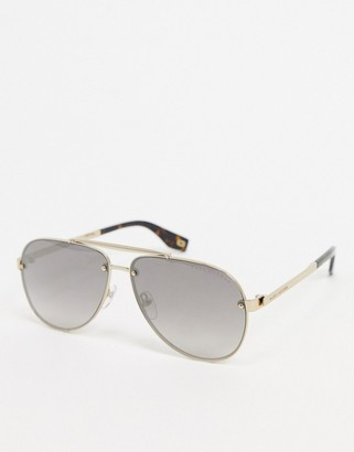 Marc Jacobs aviator sunglasses in gold