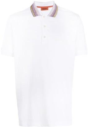 Missoni Stripe Collar Polo Shirt