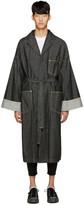 ganryu Black Denim Trench Coat