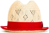 DSQUARED2 Panama hat - women - Cotton/Straw/Viscose - S