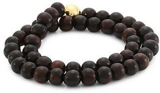 Maria Canale Voyager 18K Yellow Gold & Wood Bead Wrap Bracelet
